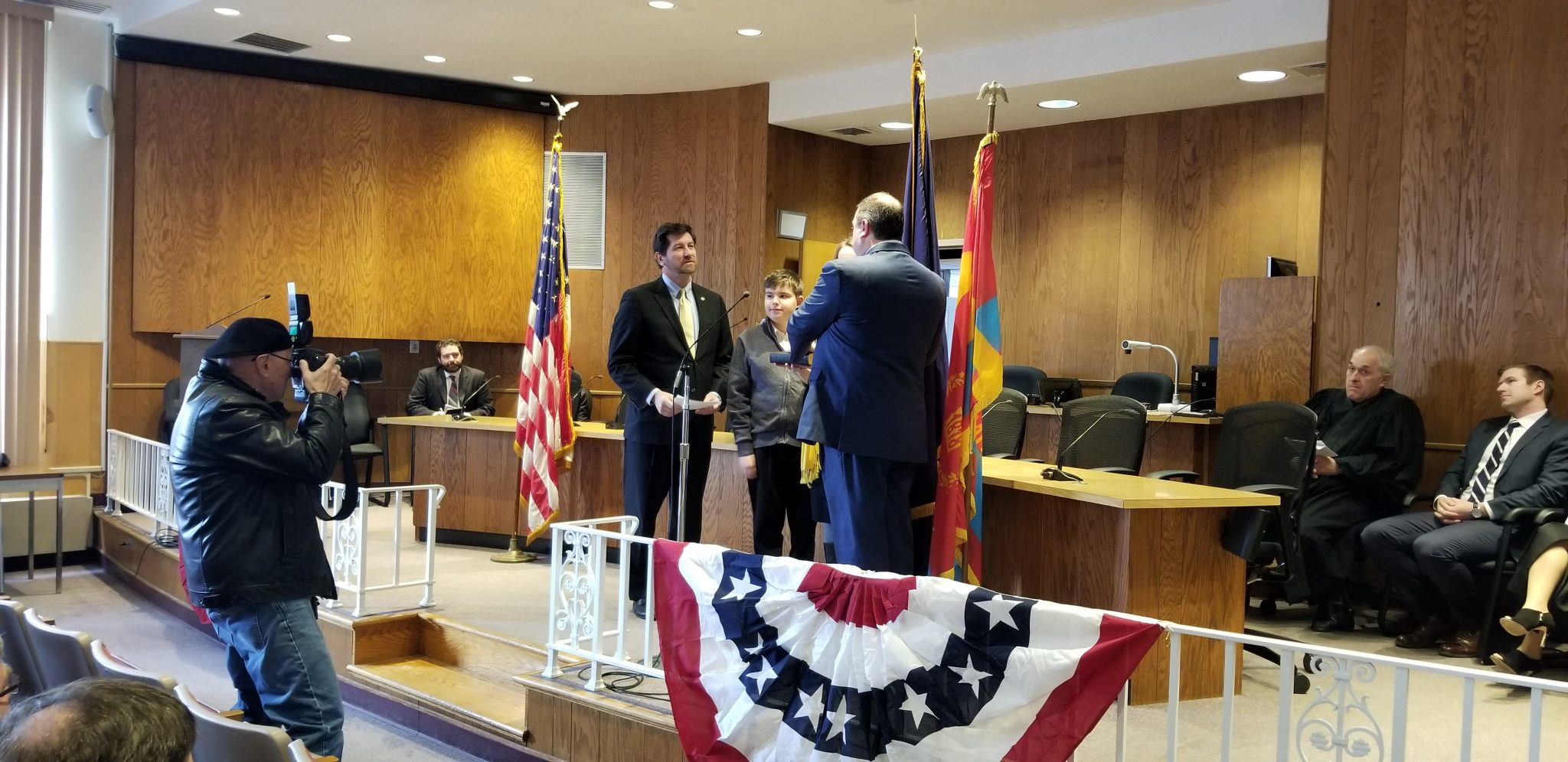 New Amherst, NY Supervisor Brian Kulpa is sworn into office